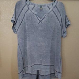 Gray Casual Top